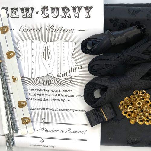 Black Rose Corset Kit