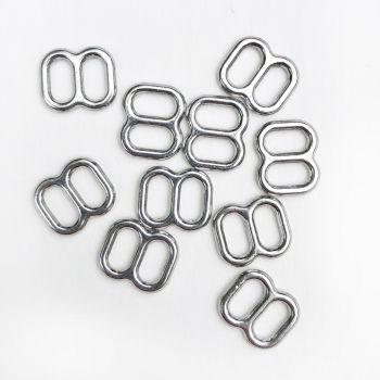 Slide adjusters 5mm silver