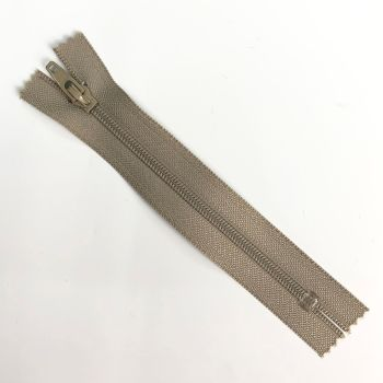 beige zipper