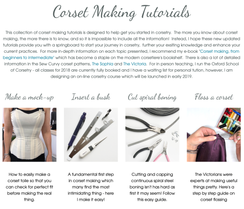 free corset making content