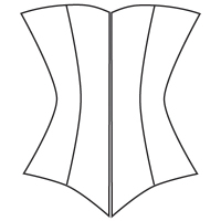 C: Midbust corset pattern