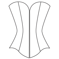 F: Overbust corset pattern
