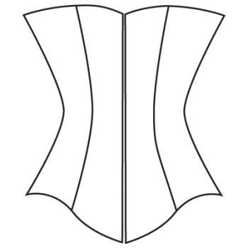 D: Midbust corset pattern