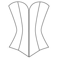 E: Overbust corset pattern