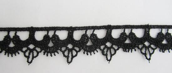 black guipre lace