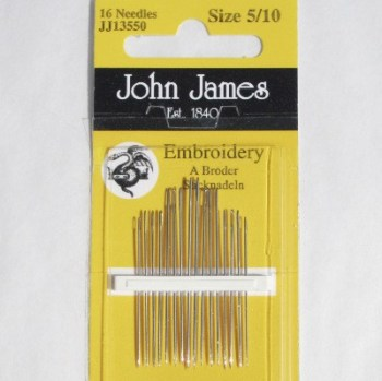 John James embroidery needles 5-10