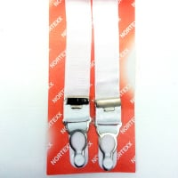 Adjustable sew on suspenders