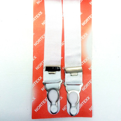 Adjustable sew on suspenders