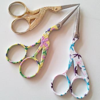 Flower Stork Scissors