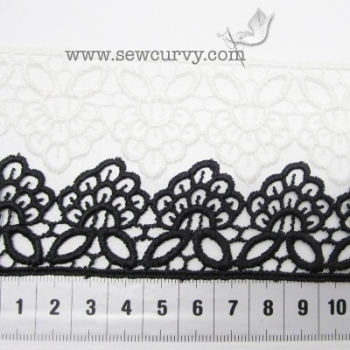 Guipre lace  - 'bees and petals'