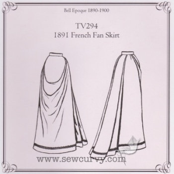 TV294 - 1891 French Fan Skirt