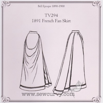 TV296 - 1891 French Fan Skirt