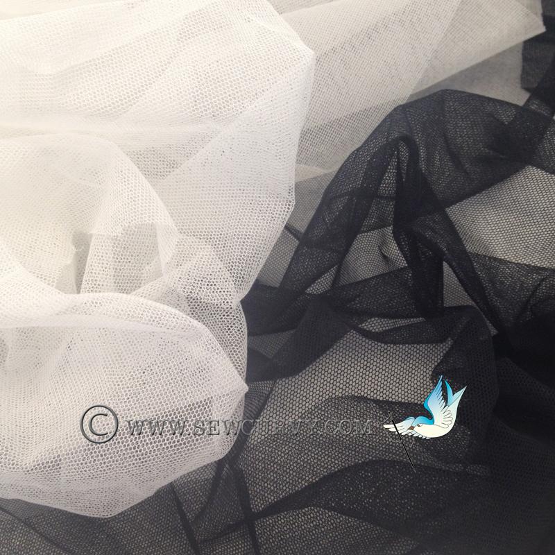 Cotton Bobbinet - White