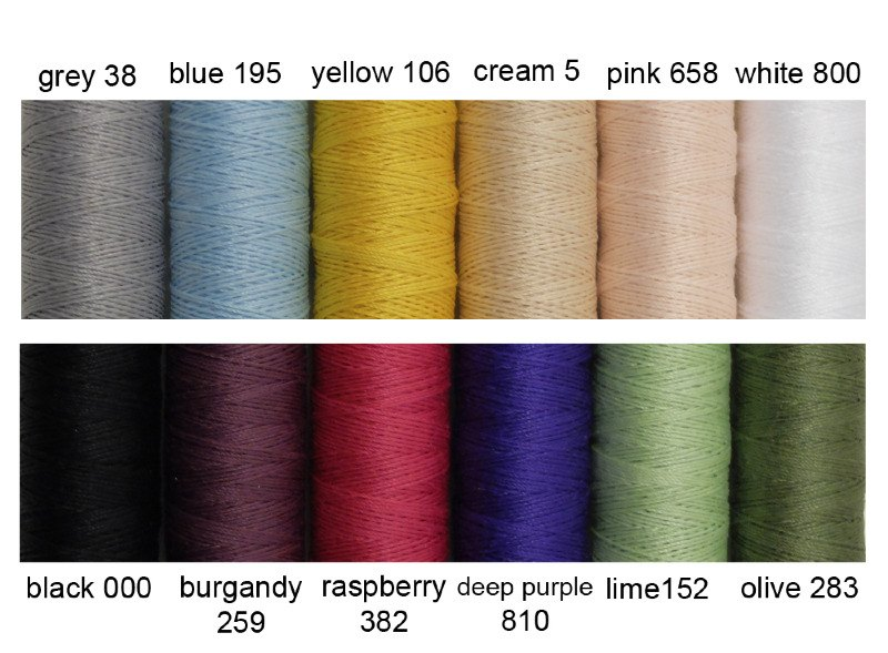 flossing thread colours