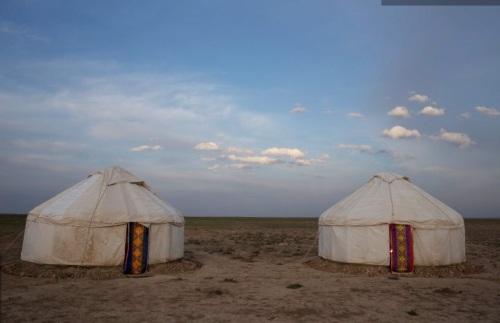 Yurts copyright Machiel Valkenburg