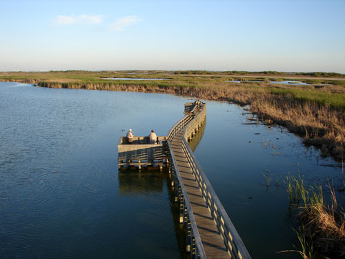 Boardwalk on Mustang Island