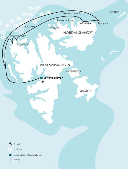 Spitsbergen-Route-Map