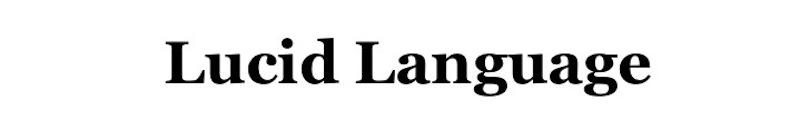 Lucid Language, site logo.