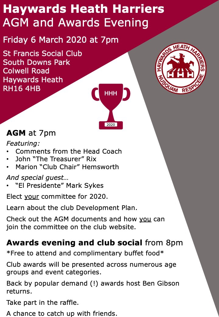HHH AGM and Awards flyer 2020