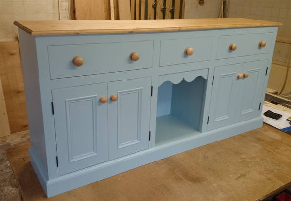 ... Furniture (Country Pine Furniture). Blue Dresser Base
