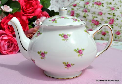 Duchess China Ditsy Roses One Pint Teapot c.1960s