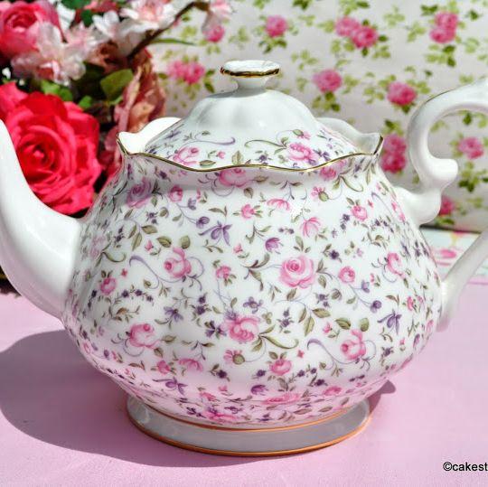 Royal Albert Rose Confetti 2 Pint Bone China Teapot