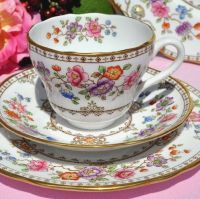 Spode Lauriston Hand Painted Teacup Trio c.1962