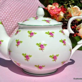W.G.Wood Ditsy Pink Roses 1.5 Pint Teapot