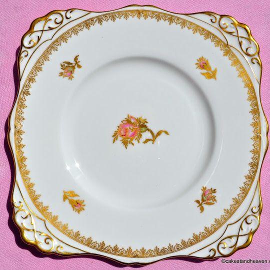 Tuscan Rosalie F187 Vintage Fine China Cake Plate c.1957+