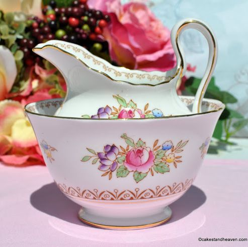 New Chelsea Emperor Floral Milk Jug and Sugar Bowl