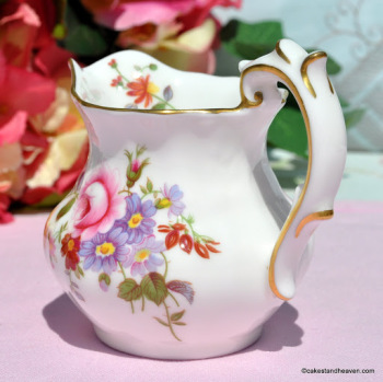 Royal Crown Derby Posies Creamer or Milk Jug First Quality Bone China c.1973