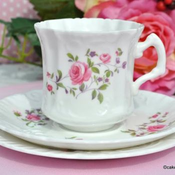 Hammersley Vintage Bone China Teacup Trio c.1940s
