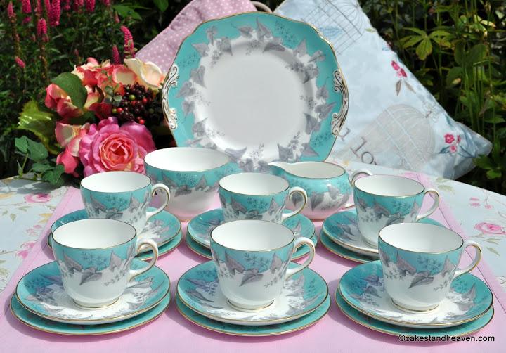 Wedgwood Buxton 21 Piece Vintage Tea Set