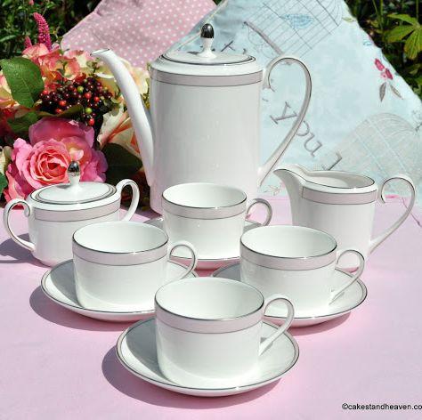 Wedgwood Vera Wang Pink Duchesse Coffee Set