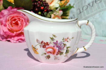 Royal Crown Derby Posies Half Pint English Bone China Milk Jug c.1986