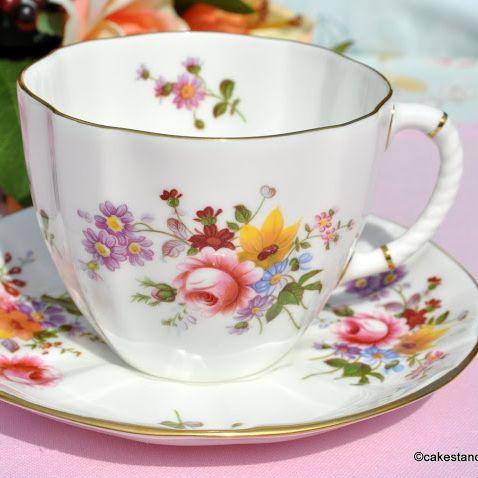 Royal Crown Derby Posies Breakfast Teacup and Saucer