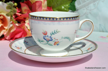 Wedgwood Sunburst Bicentenary Celebration Bone China Teacup and Saucer c.1996