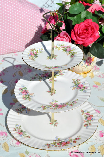Royal Albert Moss Rose 3 Tier Cake Stand