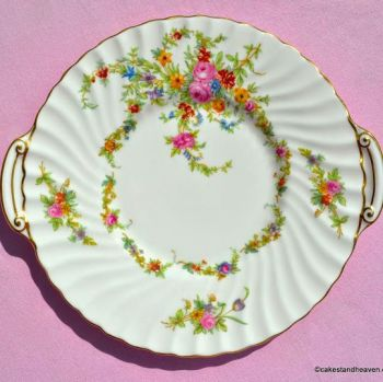 Minton Lorraine Vintage Floral Bone China Cake Plate