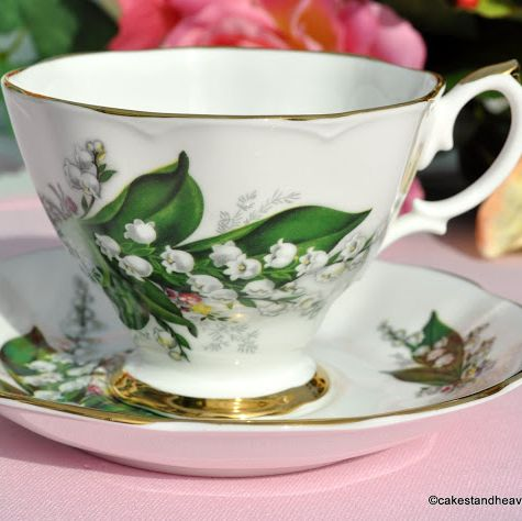 Royal Imperial Lily of the Valley Teacup & Saucer c.1960s