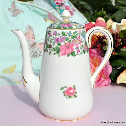 Crown Staffordshire Thousand Flowers Tall Teapot c.1930+
