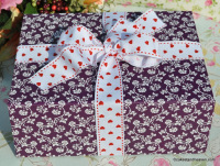trio purple patterned gift box