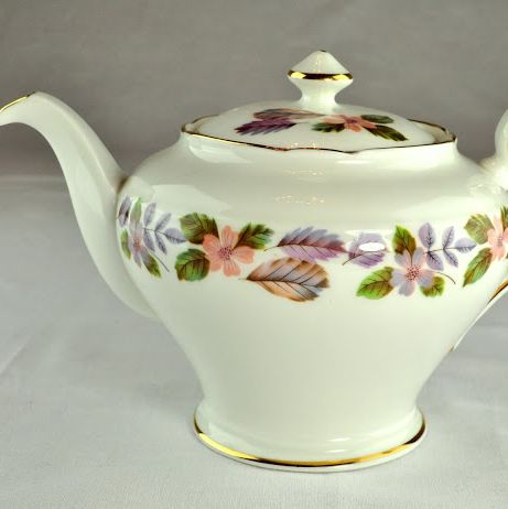 Aynsley April Rose English Fine China One Pint Teapot
