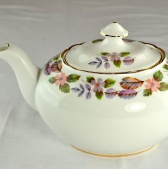 Aynsley April Rose English Fine China Oval 1.5 Pint Teapot