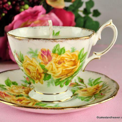 Royal Albert Tea Rose Vintage Teacup Candle Jasmine Scent