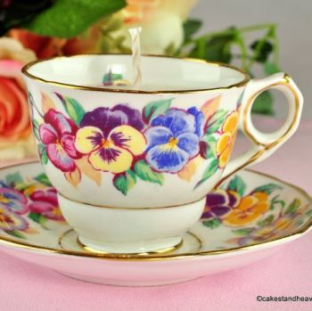 Royal Stafford Viola Vintage Teacup Candle Jasmine Scent