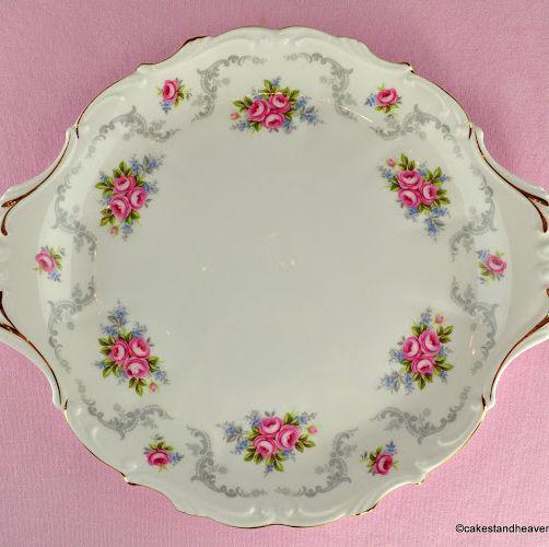 Royal Albert Tranquillity Vintage China Cake Plate c.1969