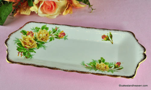 Royal Albert Tea Rose Vintage China Biscuit Tray c.1940s