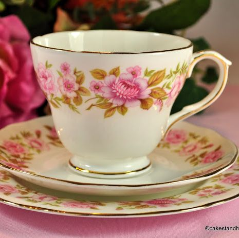 Duchess Summer Glory Vintage Pink Floral Tea Trio
