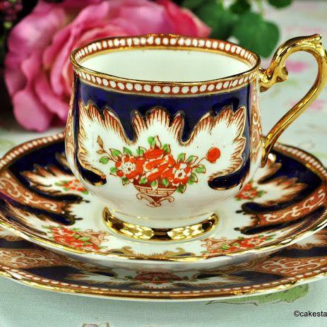 Royal Albert Crown China Royalty Vintage Teacup Trio